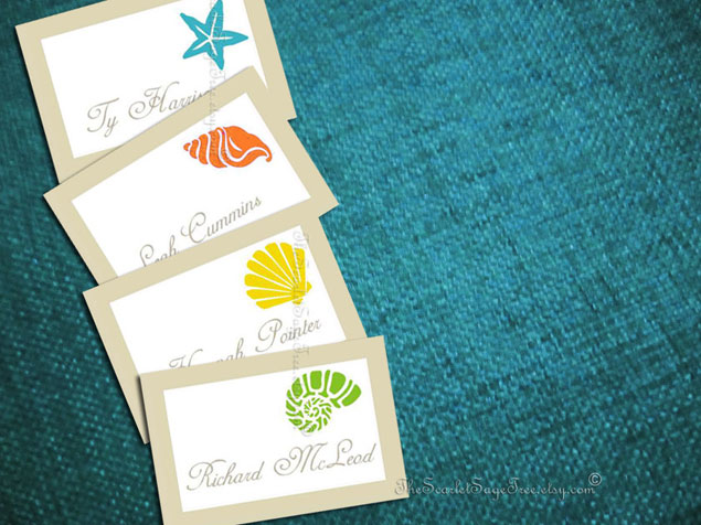 Summer Escort Cards