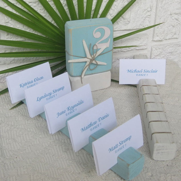 Beach Wedding Escort Cards