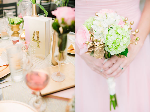 Pink and Gold Beach Wedding
