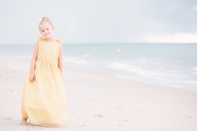 Flower Girl in Pale Yellow
