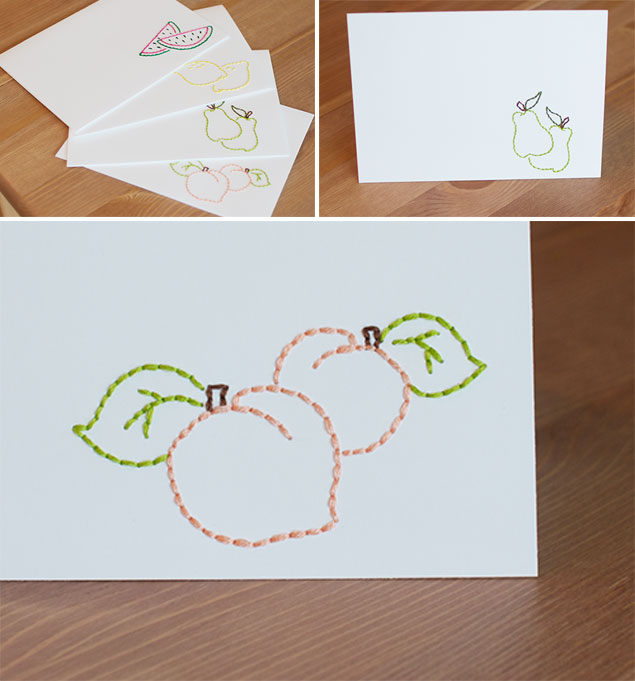 DIY Embroidered Cards