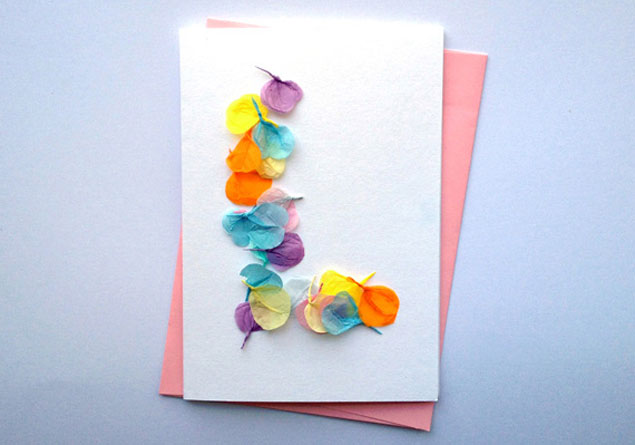 DIY Tissue Paper Cards