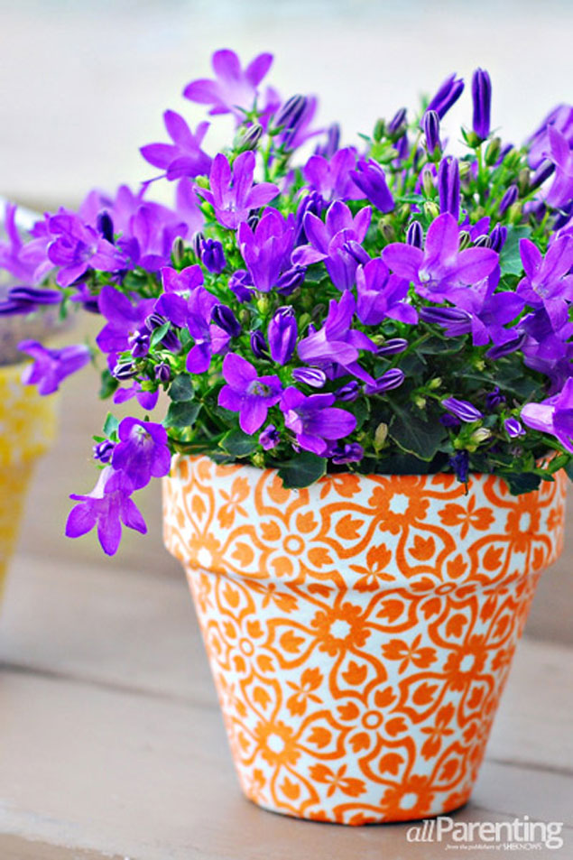 DIY Fabric Covered Planters