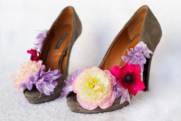 DIY Flower Shoe Embellishments