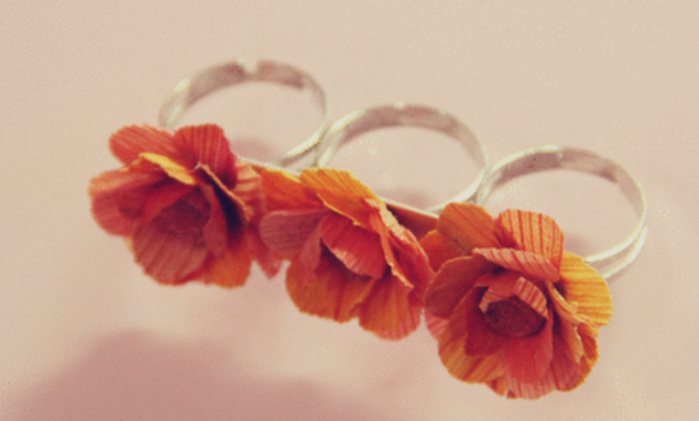 DIY faux flower accessories