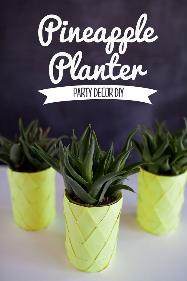 DIY Pineapple Planters