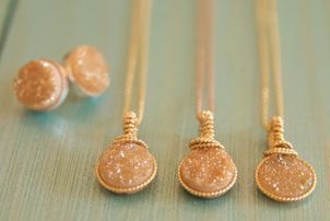 Druzy Bridesmaid Necklace