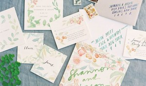 Watercolor Wedding Invitations