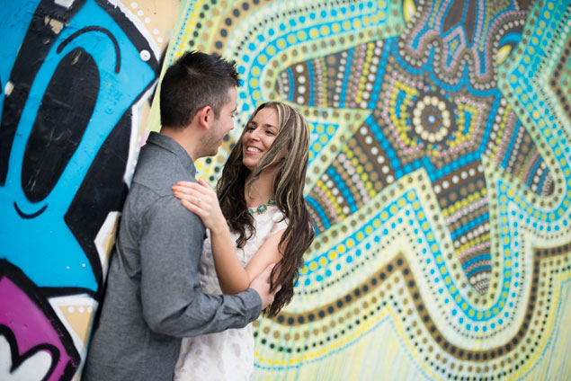 Colorful Engagement Backdrops
