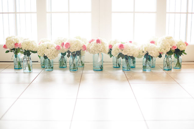 White & Pink Bridesmaid Bouquets