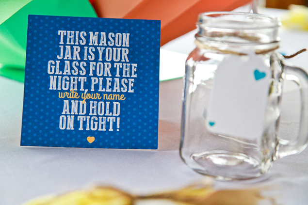 Mason Jar Wedding Signs