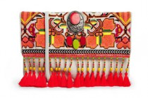 Orange Tapestry Clutch