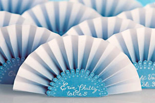 Paper Fan Escort Cards
