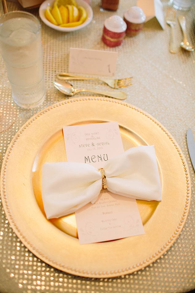 Gold Wedding Place Settings