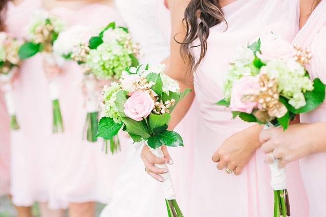 Pink Summer Bridesmaid Bouquets