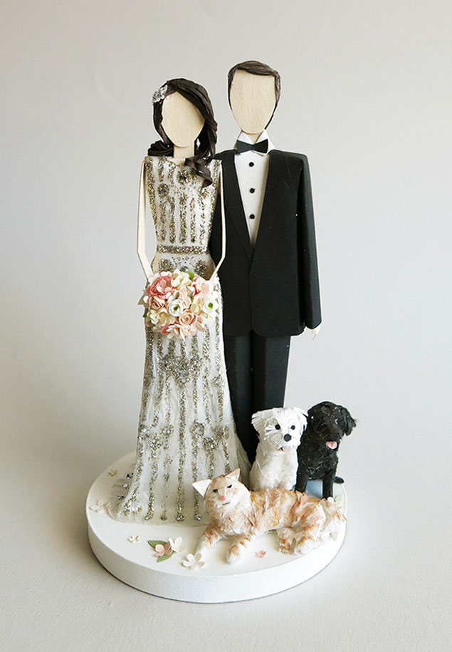 Personalized Cake Topper Sculptures