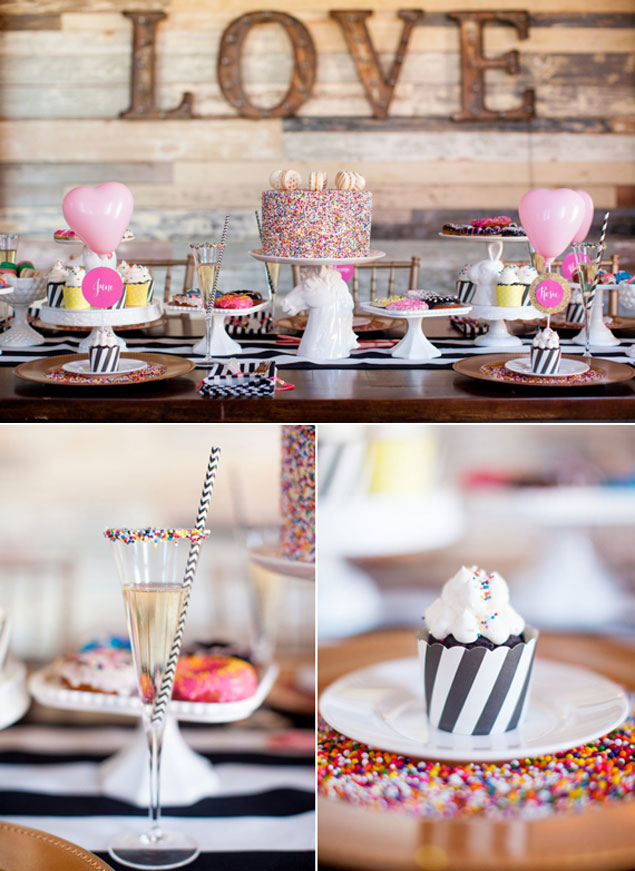 blog whimsical modern bridal shower inspiration colorful