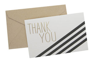 Black & Gold Thank You Cards