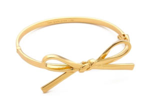Gold Bow Bangle