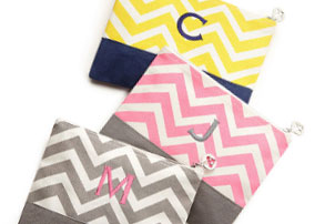 Chevron Bridesmaid Pouch