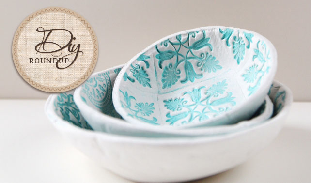 Clay Stamped Bowls by Gathering Beauty
