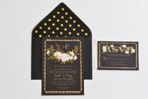 Gold & Black Invitations