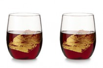 Gold Leaf Wine Glasses