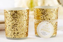 Gold Glitter Tealights