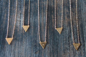 Initial Stamped Necklaces