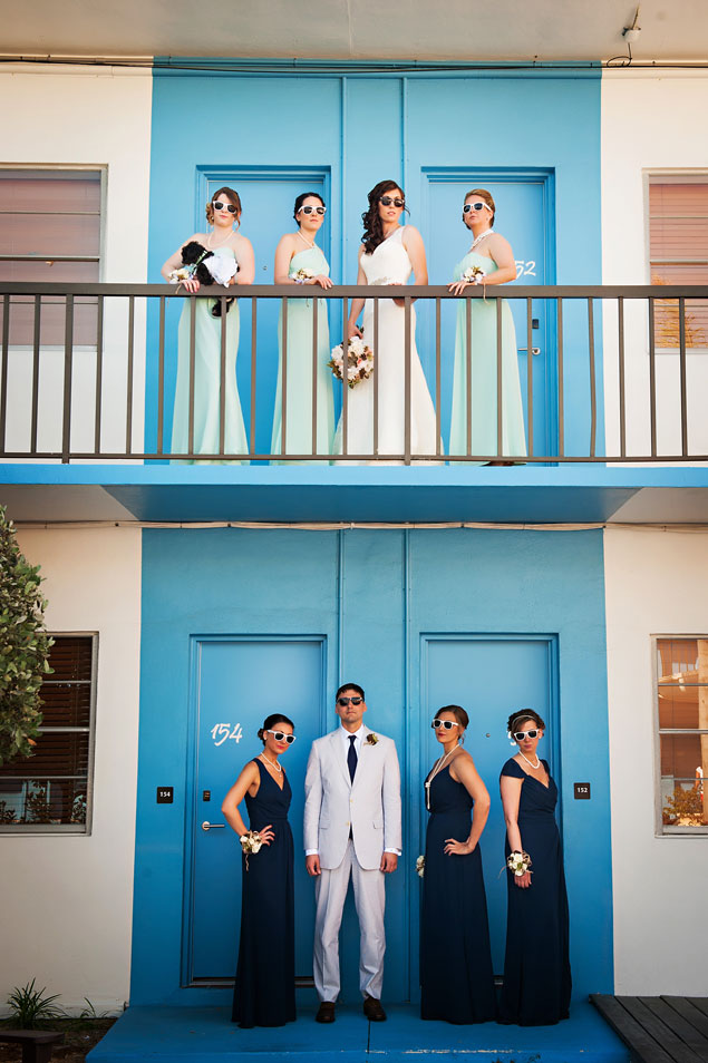 Colorful Wedding Party Photos