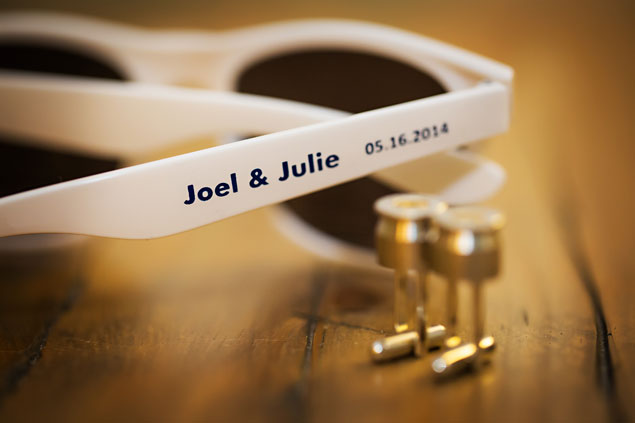 Personalized Sunglasses Wedding Favors