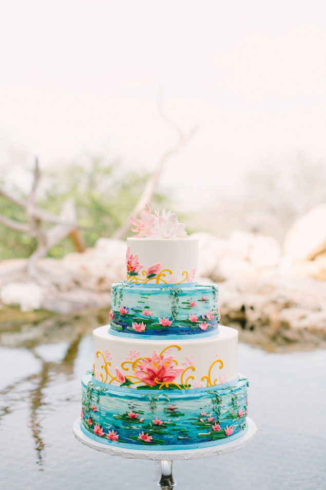 Painted Wedding Cakes