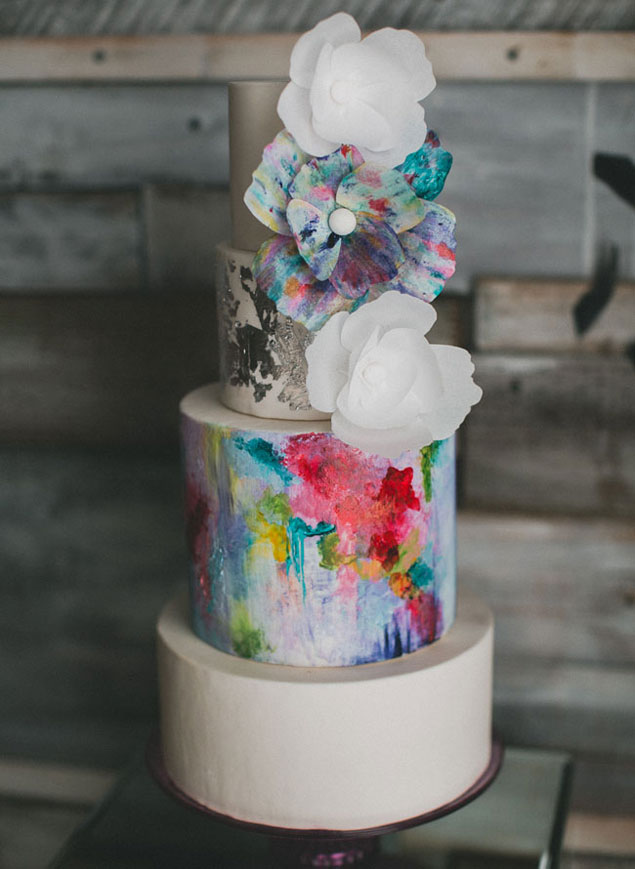 Abstract Painted Cake
