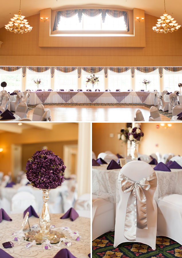 Purple and White Wedding Decor