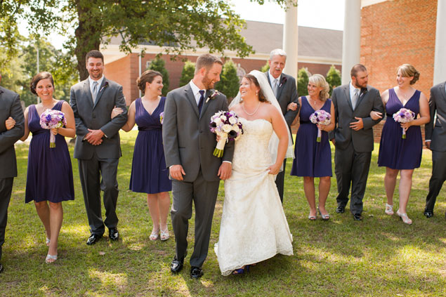 Purple Summer Wedding