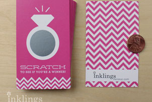 Scratch Off Bridal Shower Cards