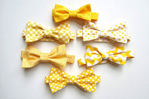 Yellow Bow Ties