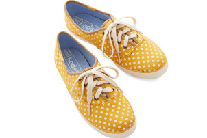 Yellow Polka Dot Sneaker