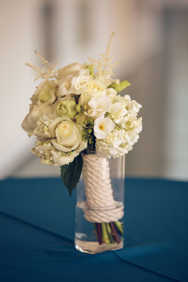 White Nautical Wedding Bouquet