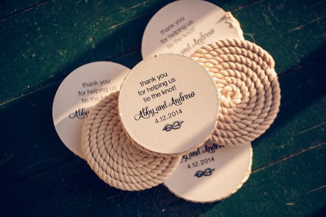 Custom Wedding Favor Coasters