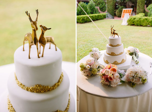 Gold Deer Cake Topper