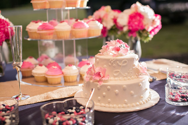 Pink and White Wedding Sweets