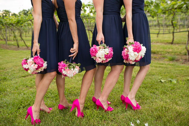 Hot Pink Bridesmaids Shoes
