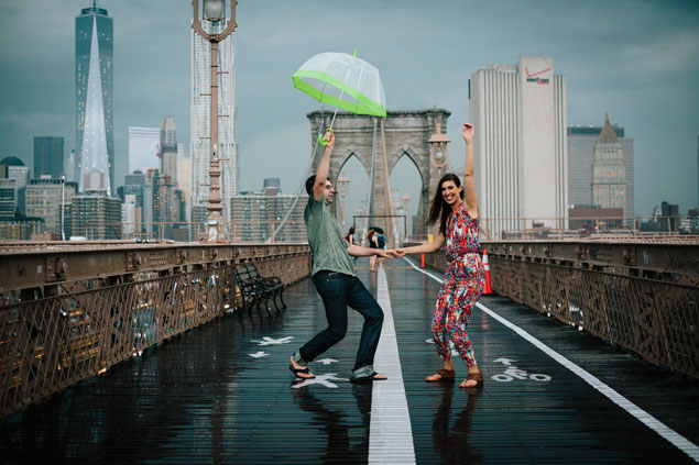 Engagement Shoot in the Rain