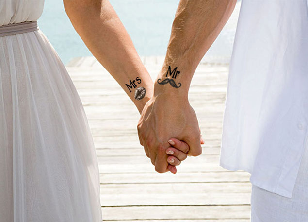 Temporary Wedding Tattoos