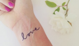 Temporary Love Tattoos