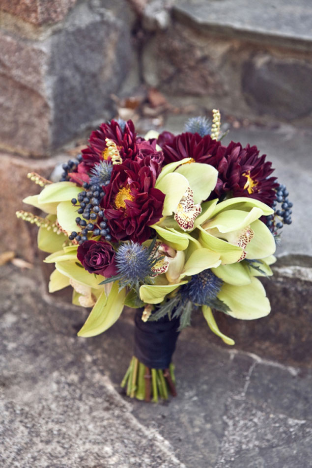 Dark Wedding Bouquets