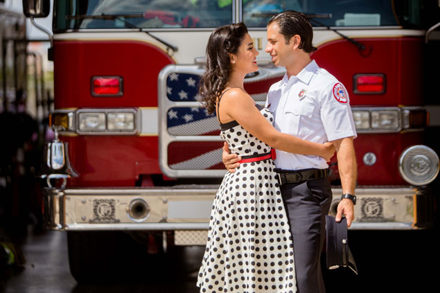 Fire Fighter Engagement Shoot