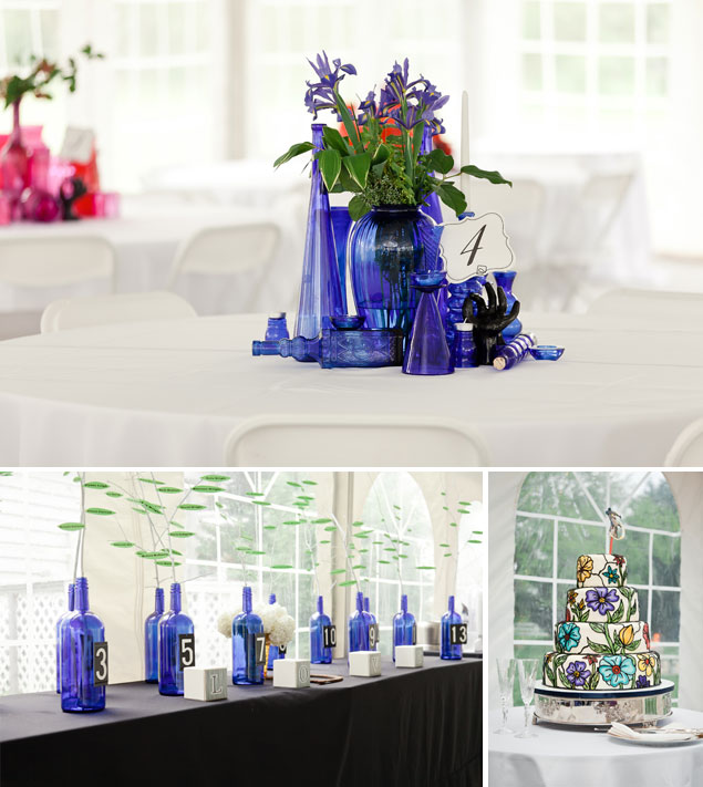 Blue Wedding Centerpieces