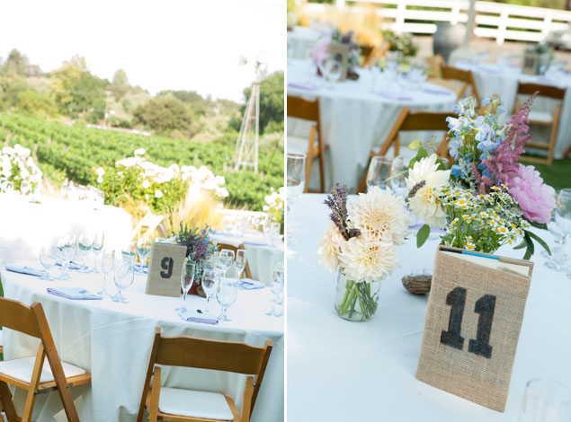 Burlap Table Numbers